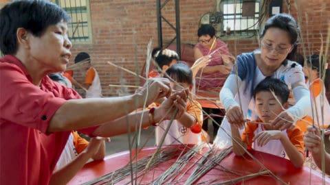 環境教育稻草編織學習